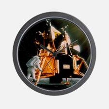 Artwork of Armstrong descending Lunar M Wall Clock