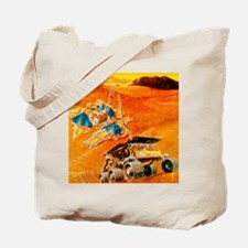 Artwork depicting MFEX rover on Mars Tote Bag