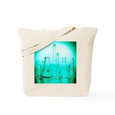 Assortment of empty laboratory flasks Tote Bag