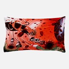 Artwork of a nanorobot inside a human  Pillow Case