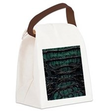 Alligator Print 2 Canvas Lunch Bag