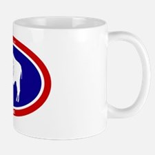 Wyoming State flag oval Mug
