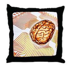Artificial intelligence, computer art Throw Pillow