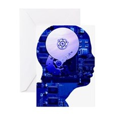 Artificial intelligence and cybernet Greeting Card