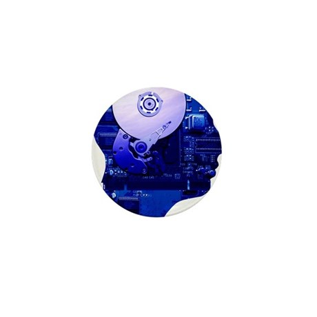 Artificial intelligence and cybernetic Mini Button