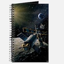 Artwork of lunar lander docking with space Journal
