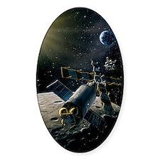 Artwork of lunar lander docking wit Decal