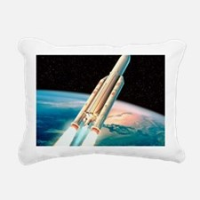 Ariane 5 rocket Rectangular Canvas Pillow