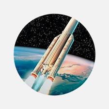 """Ariane 5 rocket 3.5"""" Button"""