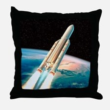 Ariane 5 rocket Throw Pillow