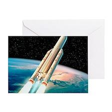Ariane 5 rocket Greeting Card