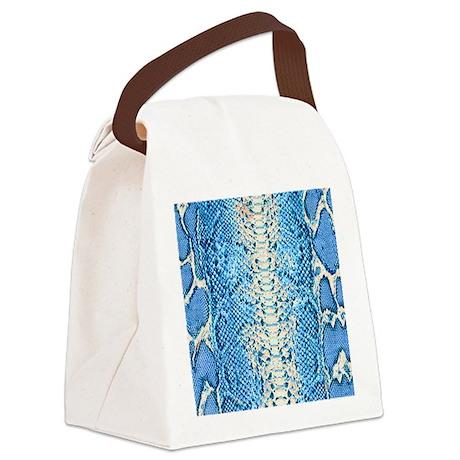snake skin wallet 2 Canvas Lunch Bag