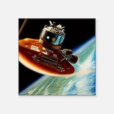 "Artwork of spacecraft using Square Sticker 3"" x 3"""