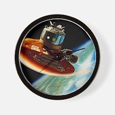 Artwork of spacecraft using aerobraking Wall Clock