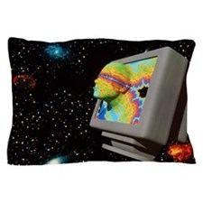 Artificial intelligence: face from com Pillow Case
