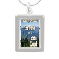 Come Behold JOURNAL Silver Portrait Necklace