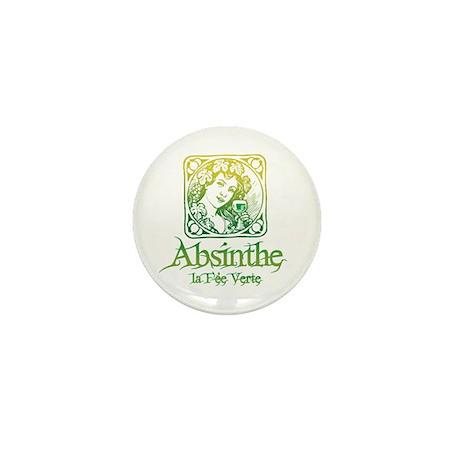 Absinthe Fairy Vintage Mini Button