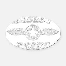 HADLEY ROCKS Oval Car Magnet