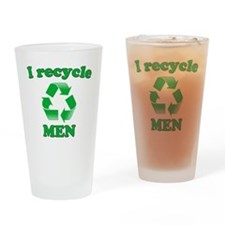 I Recycle Men Drinking Glass