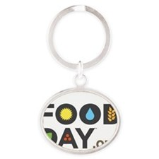 Food Day Oval Keychain