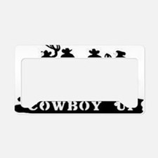 Cowboy Up License Plate Holder