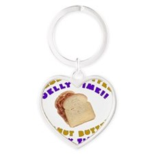 Peanut Butter Jelly Time Heart Keychain