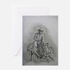 Cuttin' Cowboy Greeting Card
