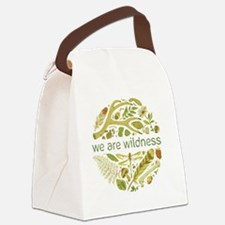 big button waw Canvas Lunch Bag