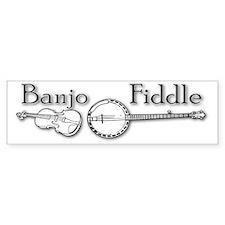 Banjo Fiddle Bumper Bumper Sticker