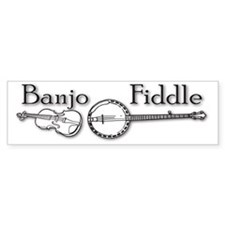 Banjo Fiddle Bumper Sticker