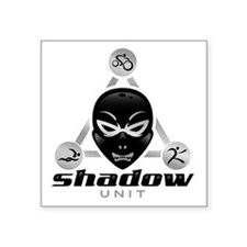 "Shadow Unit logo Square Sticker 3"" x 3"""