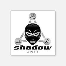 "Shadow Unit logo Square Sticker 3"" x 3"""
