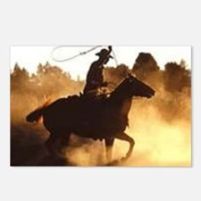 Roping Cowboy Postcards (Package of 8)