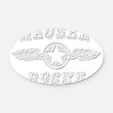 HAUSER ROCKS Oval Car Magnet