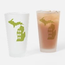 Right To Work State Michigan Drinking Glass