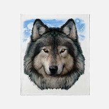 Wolf Head 2 Throw Blanket