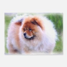 Gazing Chow Chow Watercolor 5'x7'Area Rug