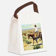 Cowboy Painting Canvas Lunch Bag
