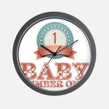 Baby Number 1 Wall Clock
