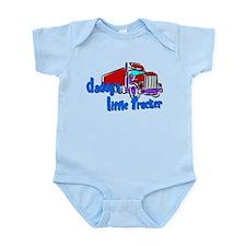 Daddy's Little Trucker - Blue Infant Bodysuit