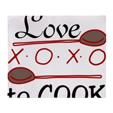 Love To Cook Throw Blanket