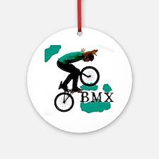 BMX ink blot Round Ornament