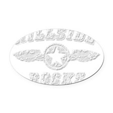 HILLSIDE ROCKS Oval Car Magnet