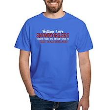 Women Love Snowmobilers T-Shirt