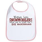 Women Love Snowmobilers Bib