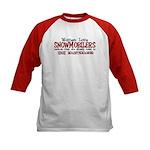 Women Love Snowmobilers Kids Baseball Jersey