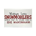 Women Love Snowmobilers Rectangle Magnet