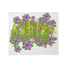 Ashley Floral Lavender Flowers yello Throw Blanket
