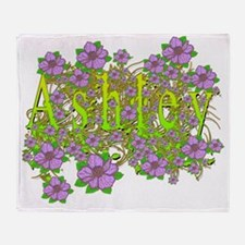 Ashley Floral Lavender Flowers yello Throw Blanket
