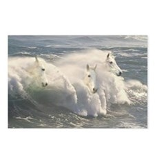 White Horses And Waves Postcards (Package of 8)